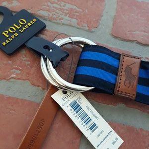 Ralph Lauren Men's Grograin Leather Belt Large